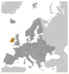 Mapa de localización, Irlanda