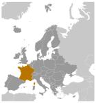 Mapa localización de Francia