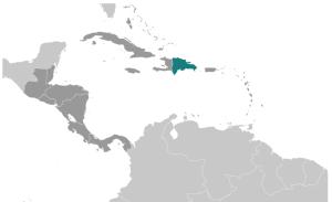 Localización de Republica Dominicana